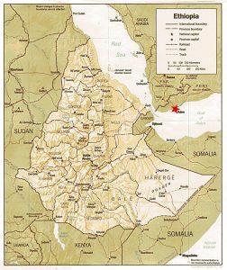 расположение эфиопии и адена