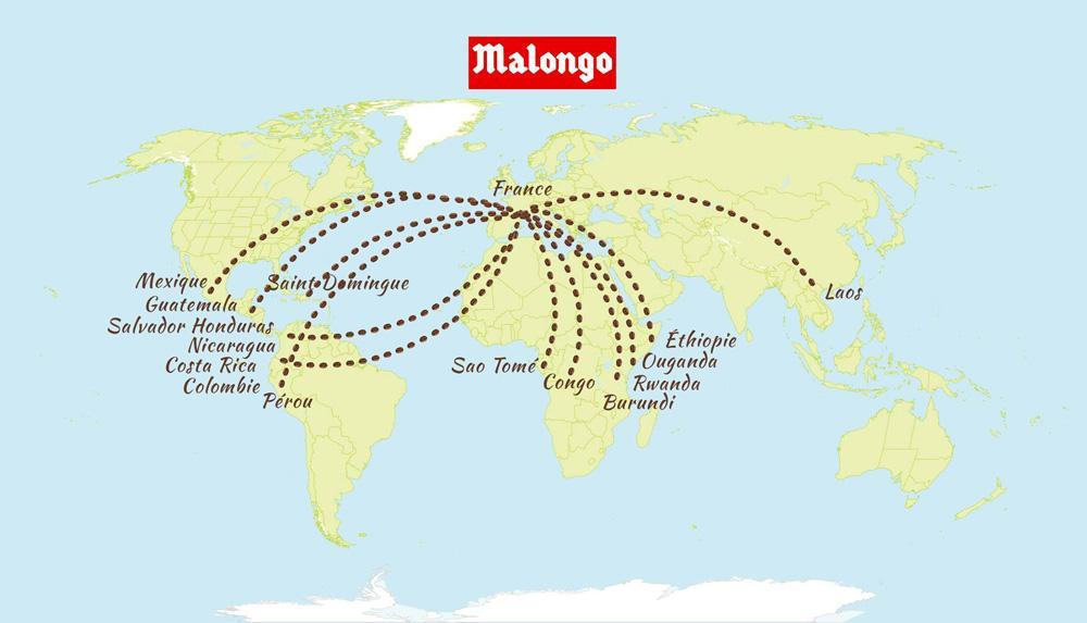 география кофейного зерна малонго