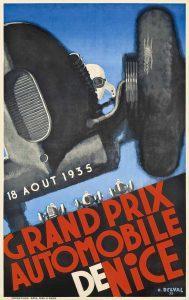 постер гонок Гран-при Ницца