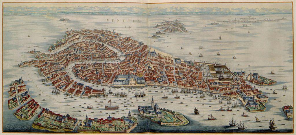 венеция 17 век карта