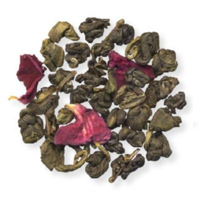 Розовый жемчуг зеленый чай 100г