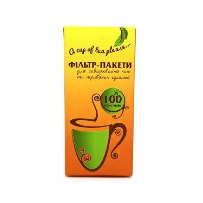 Фильтр-пакет для чая L –100 шт