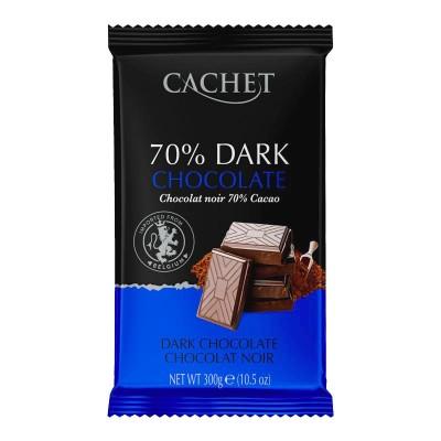 Cachet Экстра черный шоколад 70% 300г