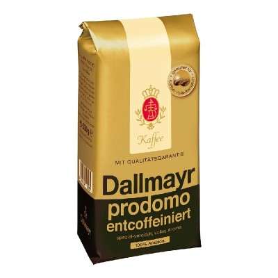 Dallmayr Prodomo Entcoffeiniert без кофеина в зернах 500г