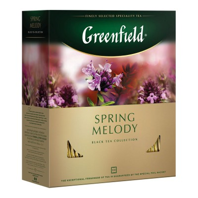 Greenfield Spring Melody черный чай 100шт