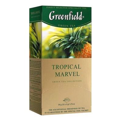 Greenfield Tropical Marvel зеленый чай 25шт