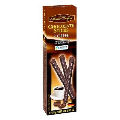 Шоколадные палочки Maitre Truffout Chocolate Sticks Сoffee 75г