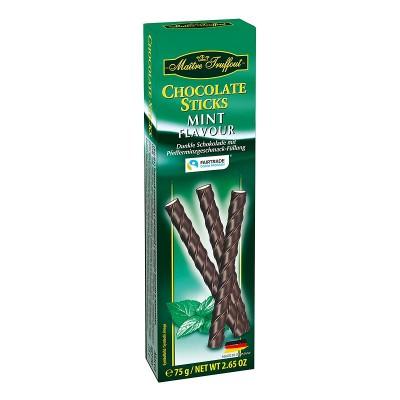 Шоколадные палочки Maitre Truffout Chocolate Sticks Mint 75г