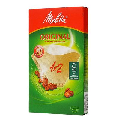 Фильтр-пакет для кофе Melitta Original 1*2 бумажный бежевый 40 шт