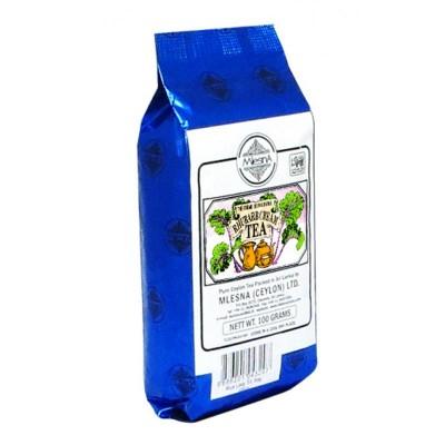 Mlesna Сливки-Ревень черный чай 100г