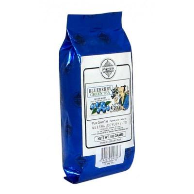 Mlesna Голубика зеленый чай 100г