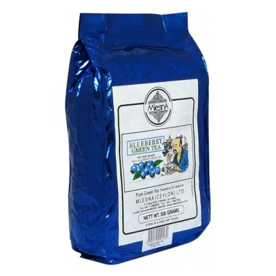 Mlesna Голубика зеленый чай 500г