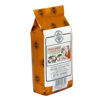 Mlesna Персик Абрикос зеленый чай 100г