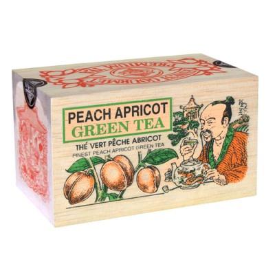 Mlesna Персик Абрикос зеленый чай д/к 100г