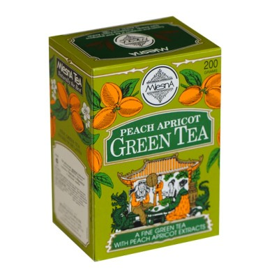 Mlesna Персик Абрикос зеленый чай 200г