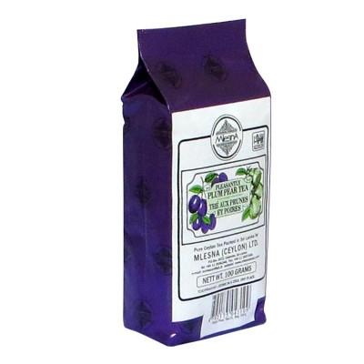 Mlesna Слива Груша черный чай 100г