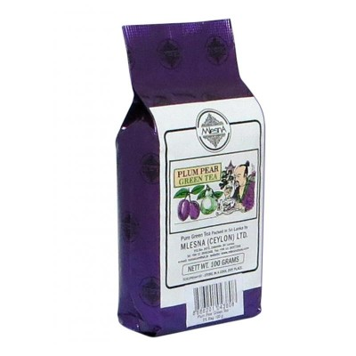 Mlesna Слива Груша зеленый чай 100г