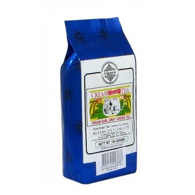 Mlesna Cream Earl Grey зеленый чай 100г