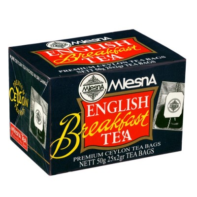 Mlesna English Breakfast черный чай 25шт