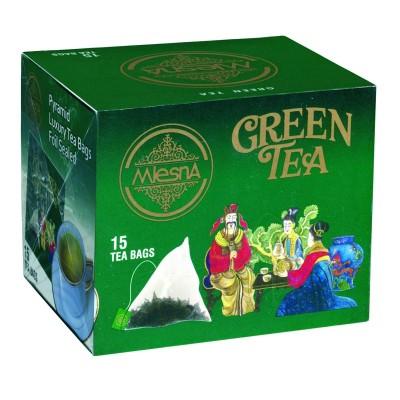 Mlesna Зеленый крупнолистовой чай 15шт
