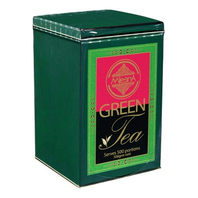 Mlesna Зеленый крупнолистовой чай ж/б 500г