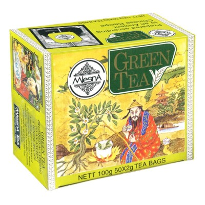Mlesna Зеленый крупнолистовой чай 50шт