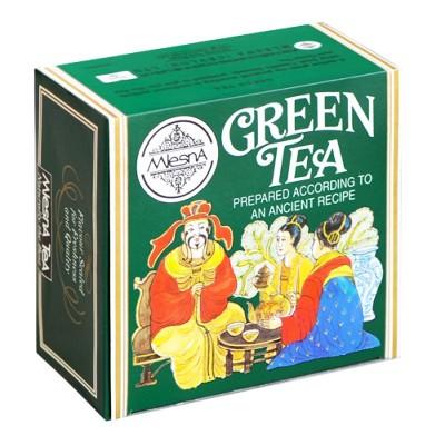 Mlesna Зеленый крупнолистовой чай 50шт фольга