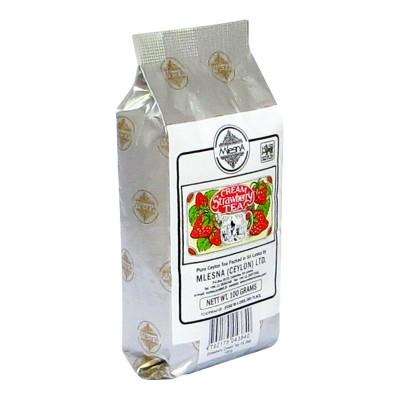 Mlesna Cream Клубника черный чай 100г
