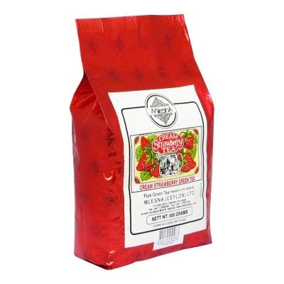 Mlesna Cream Клубника зеленый чай 500г