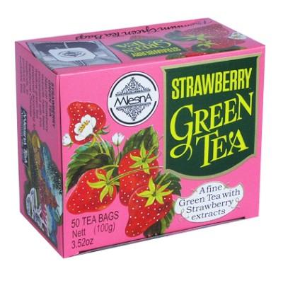 Mlesna Клубника зеленый чай 50шт