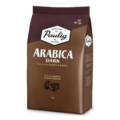 Paulig Arabica Dark в зернах 1кг