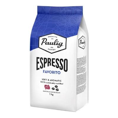Paulig Espresso Favorito в зернах 1кг