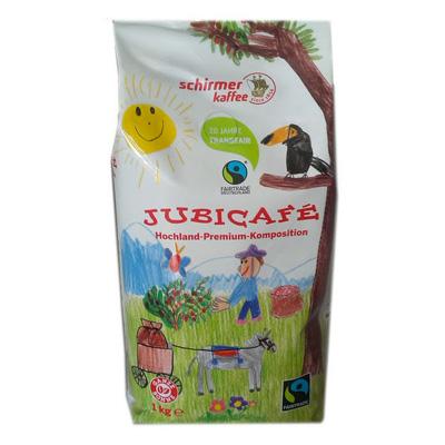Schirmer Kaffee Fairtrade Jubicafe в зернах 1кг