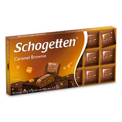 Молочный шоколад Schogetten Caramel Brownie 100 г