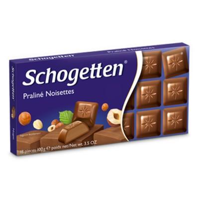 Молочный шоколад Schogetten Praliné Noisettes Nougat 100 г