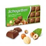 Молочный шоколад Schogetten Alpine Milk with Huzelnuts 100 г