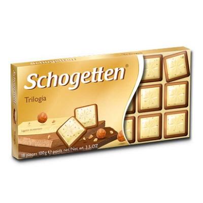 Молочный шоколад Schogetten Trilogia 100 г