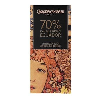 Черный шоколад Amatller Ecuador 70% Cacao 70г