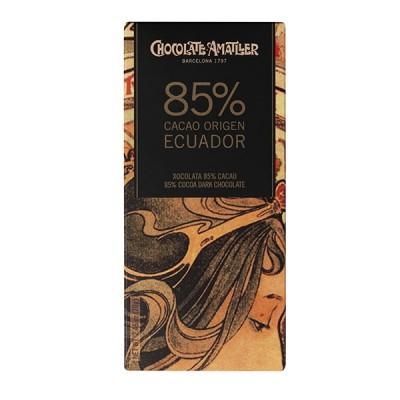 Черный шоколад Amatller Ecuador 85% Cacao 70г