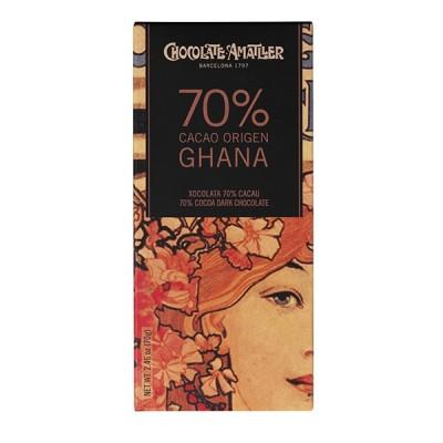 Черный шоколад Amatller Ghana 70% Cacao 70г