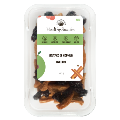 Healthy Snacks Яблоко (в корице) +Вишня 100г