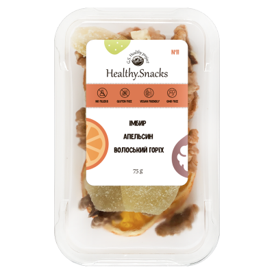 Healthy Snacks Апельсин +Грецкий орех +Имбирь 75г