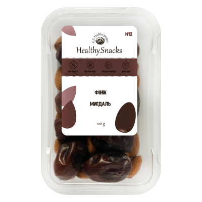 Healthy Snacks Миндаль +Финик 125г