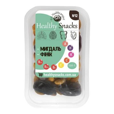 Healthy Snacks Миндаль +Финик 125г