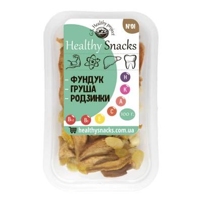 Healthy Snacks Фундук +Груша +Изюм 100г