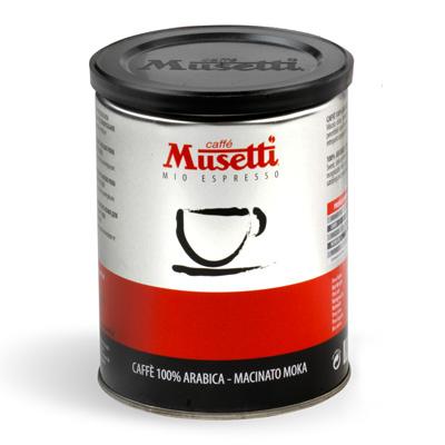 Musetti Arabica 100% молотый ж/б 250г