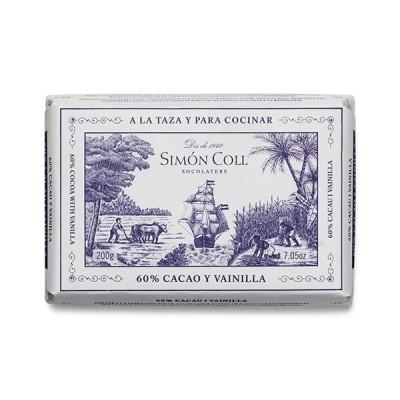 Черный шоколад Simon Coll Cacao и Ваниль 60% 200г